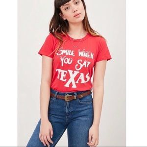 NWT JUNK FOOD Smile When You Say Texas Tee Shirt